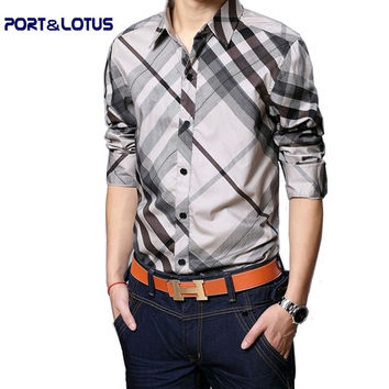 new arrive men shirt short sleeve plus size large shirts casual shirts oblique striped plaid 055