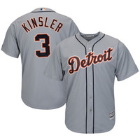 Ian Kinsler Detroit Tigers Majestic Official Cool Base Authentic Collection Player Jersey – Gray