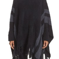 Barefoot Dreams® 'Cozy Chic® Beach' Fringe Lounge Poncho | Nordstrom