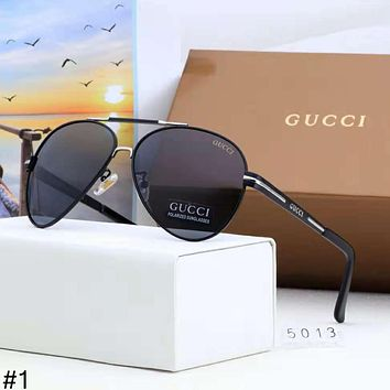 GUCCI new men's polarizer big box fashion driving retro sunglasses #1