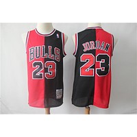Chicago Bulls 23 Jordan Double Color Black/Red Basketball Jersey
