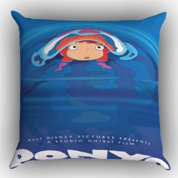 Ponyo Movie Poster X0595 Zippered Pillows  Covers 16x16, 18x18, 20x20 Inches
