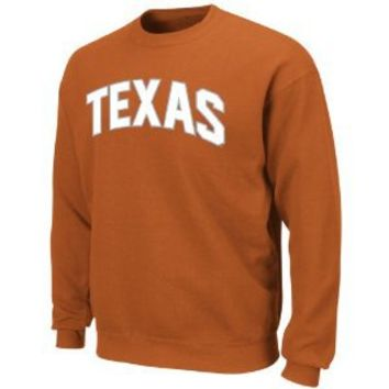 NCAA Texas Longhorns Gameday Battle New Texas Orange Long Sleeve Crew Neck Fleece