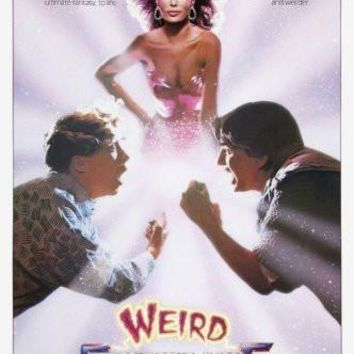 weird science poster Metal Sign Wall Art 8in x 12in
