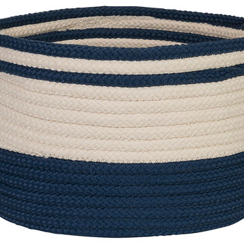 Bar Harbour Basket, Navy, Storage Baskets