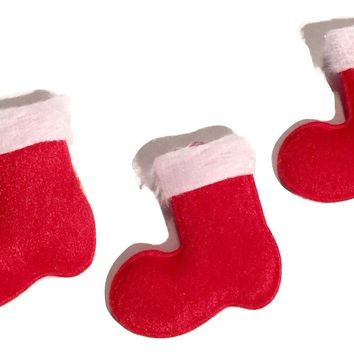 Christmas stocking padded felt appliqués