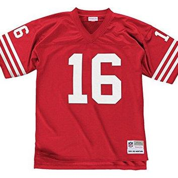 Mitchell and Ness Men's San Francisco 49ers NFL #16 Joe Montana 1990 Throwback Replica Jersey