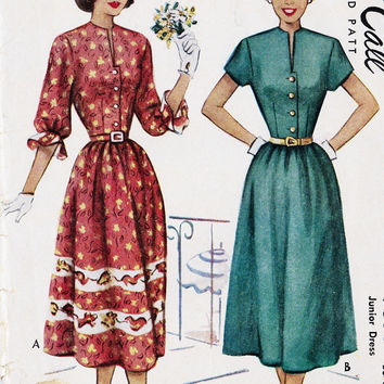"1940s Junior Dress Vintage Sewing Pattern, McCall 7314 Bust 33"" uncut"