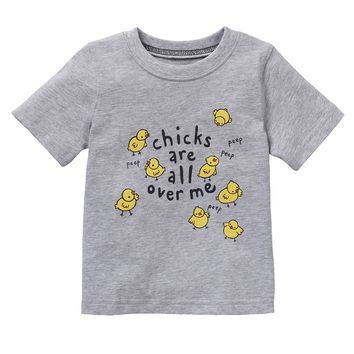 Jumping Beans ''Chicks Are All Over Me'' Tee - Baby