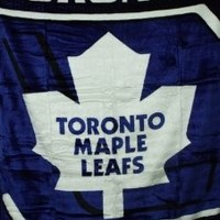 "Toronto Maple Leafs NHL Soft Plush 60""x80"" Throw Blanket"