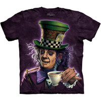 MAD HATTER The Mountain Alice In Wonderland Adult T-Shirt S-3XL NEW