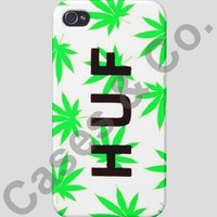 Huf Plant Life iPhone 4/4s Case Marijuana Weed Leaf White/Green Cases & Co.