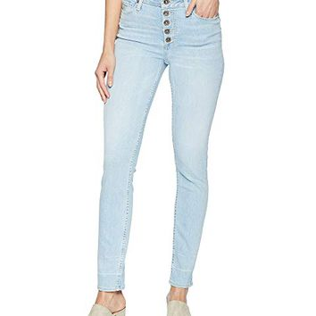 Paige Hoxton Ankle Peg Jeans with Exposed Buttons and Caballo Inseam in Yosemite
