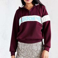 adidas Originals New York 1986 Hoodie Sweatshirt - Maroon - Urban Outfitters