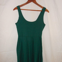 Green Skater Dress by CollegeFundClothing