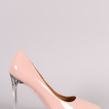 Patent Pointy Toe Lucite Stiletto Pump | UrbanOG
