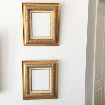 Pair of Vintage Gold Gild Picture Frames for 8 x 10 Pictures, Ornate Picture Frame, Gilded Wood Frame, Gold Picture Frame,