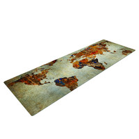 Graffiti World Map Yoga Mat