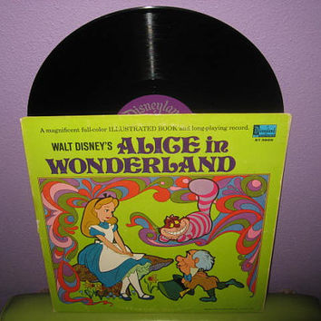 Vinyl Record Album Disney's Alice In Wonderland Original Soundtrack LP 1969 Children's Classic