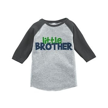 Custom Party Shop Boy's Novelty Little Brother Vintage Baseball Tee