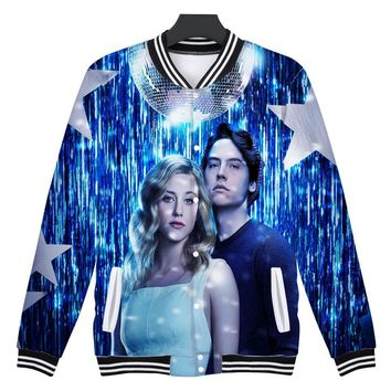 Trendy 3D Riverdale Winter Jacket American TV Riverdale Women Fashion Jacket  Mens Female Fans Casual Baseball Jacket XS-4XL Clothes AT_94_13