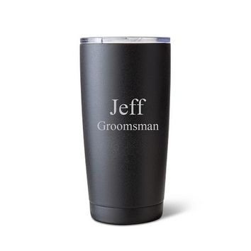 20 oz. Black Matte Double Wall Insulated Tumbler