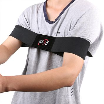 Golf Arm Posture Motion Correction Elastic Nylon Belt Black Golf Training Aids