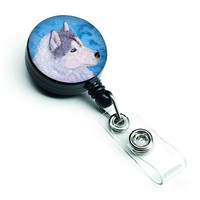 Siberian Husky  Retractable Badge Reel or ID Holder with Clip SS4740
