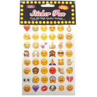 Popular Emoji Stickers (6 sheets)