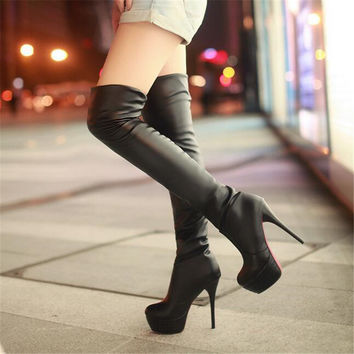 Kimberly Knee High Leather Boots