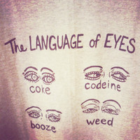MEN'S Size L Language of the Eyes