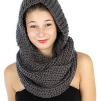FALL WINTER LATE Summer Scarf  gift Unisex neck Warmer  hooded Scarf winter scarf knit scarf hoodie