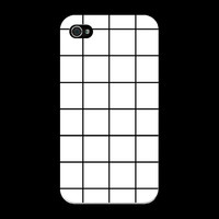 White Grid Phone Case