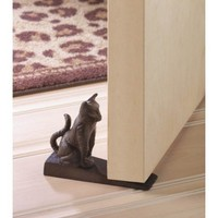 Cute Cast Iron Cat Door Stopper