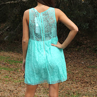 Mirror Mirror Lace Dress, Mint