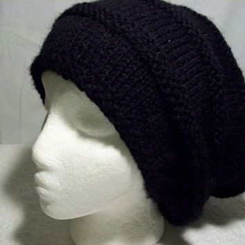 Black Slouchy Hat, Big Hair Hat, Baggy Slouch,Trending Accessories