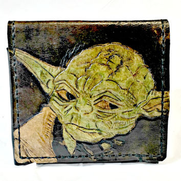 Yoda Wallet,Try Not.Do or Do Not...Geekery,Fun,Geek Gift,Nerd Gift,Star Wars,Anniversary Gift,Gamer Girl,Boyfriend Gift,Hold 12 cards,2 slot