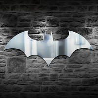 Atmosphere Batman Logo Combo Gadget Mirror Plus Batman Eclipse Light Remote Controlled LED Wall Light
