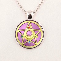 Anime Sailor Moon Glass Cabochon Necklace