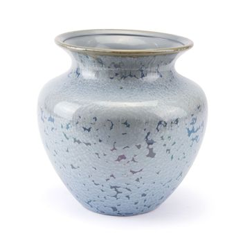 Crystal Blue Short Vase Blue