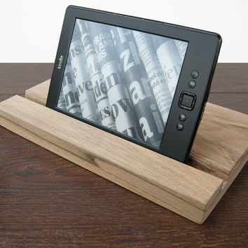 iPad stand. Wooden iPad Stand. Walnut iPad Dock. iPad wood stand. iPad Wood Docking Station.