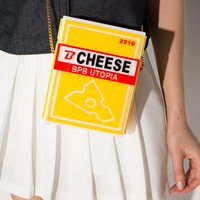 Bpb cheese acrylic shoulder bag