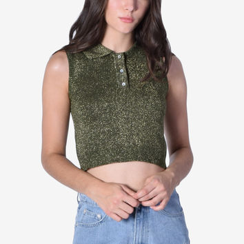 Monica Collar Knit Top - Sparkle