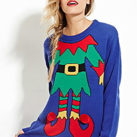 Pom Pom Elf Graphic Sweater