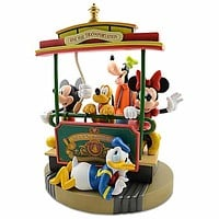 disney parks fab 5 35th main street trolley  medium statue alavezos new with box