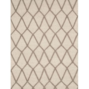 EORC Handmade Wool Gray Transitional Trellis Xavier Rug
