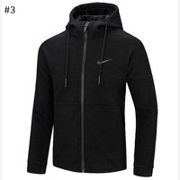 NIKE 2018 autumn and winter new men's long-sleeved zipper cardigan hoodie #3