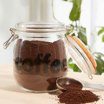 Coffee Glass Canister- Clear One