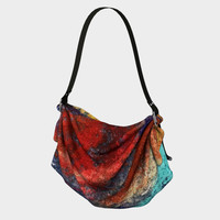 Floral Flame Origami Tote