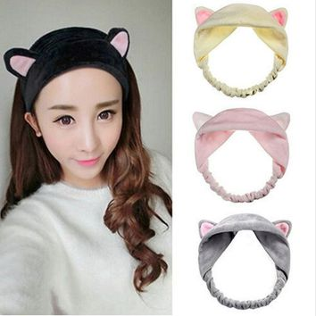 Hot Sale Cat Ear Hair Head Band Hairbands Headbands Party Gift Headdress Headwear Ornament Trinket Hair Accessories Makeup Tools
